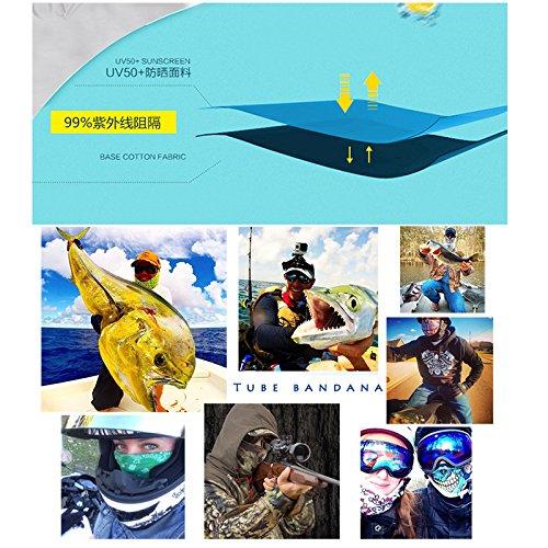 HONGYUANZHANG 5PCS Bufanda Mágica Sin Costuras Bufanda Bufanda Bufanda Multifuncional Máscara De Cuello De Mono Bufanda De Montañismo Al Aire Libre (25X50Cm) 4451fd