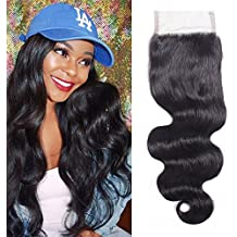 """CHEEON 130% Density Free Part 14"""" Peruvian Virgin Hair Body Wave Lace Closure 100% Unprocessed Human Hair Natural Color Can be Dyed"""