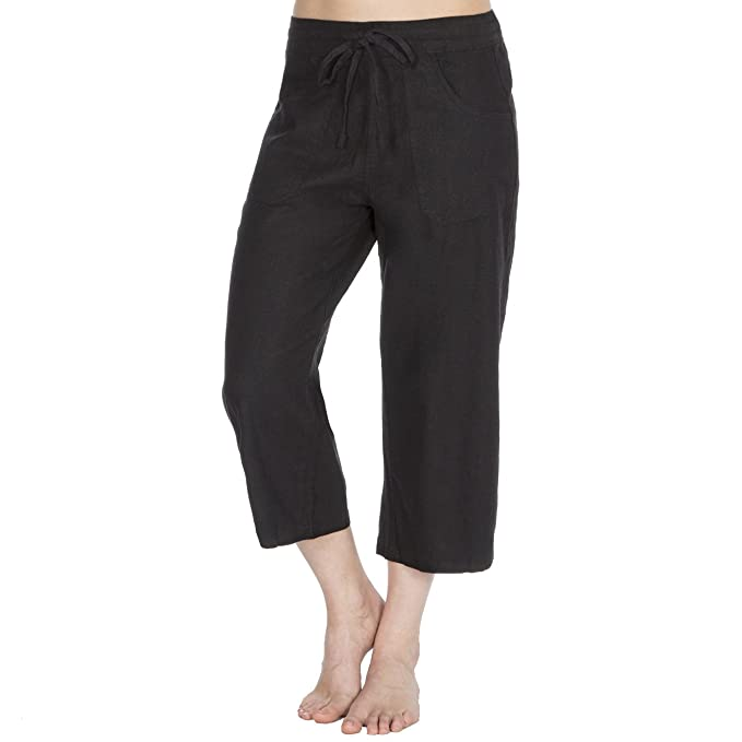 5619c3abf3d Metzuyan Womens 3 4 Capri Pants Cropped Elasticated Trousers Plus Size 16-24   Amazon.co.uk  Clothing