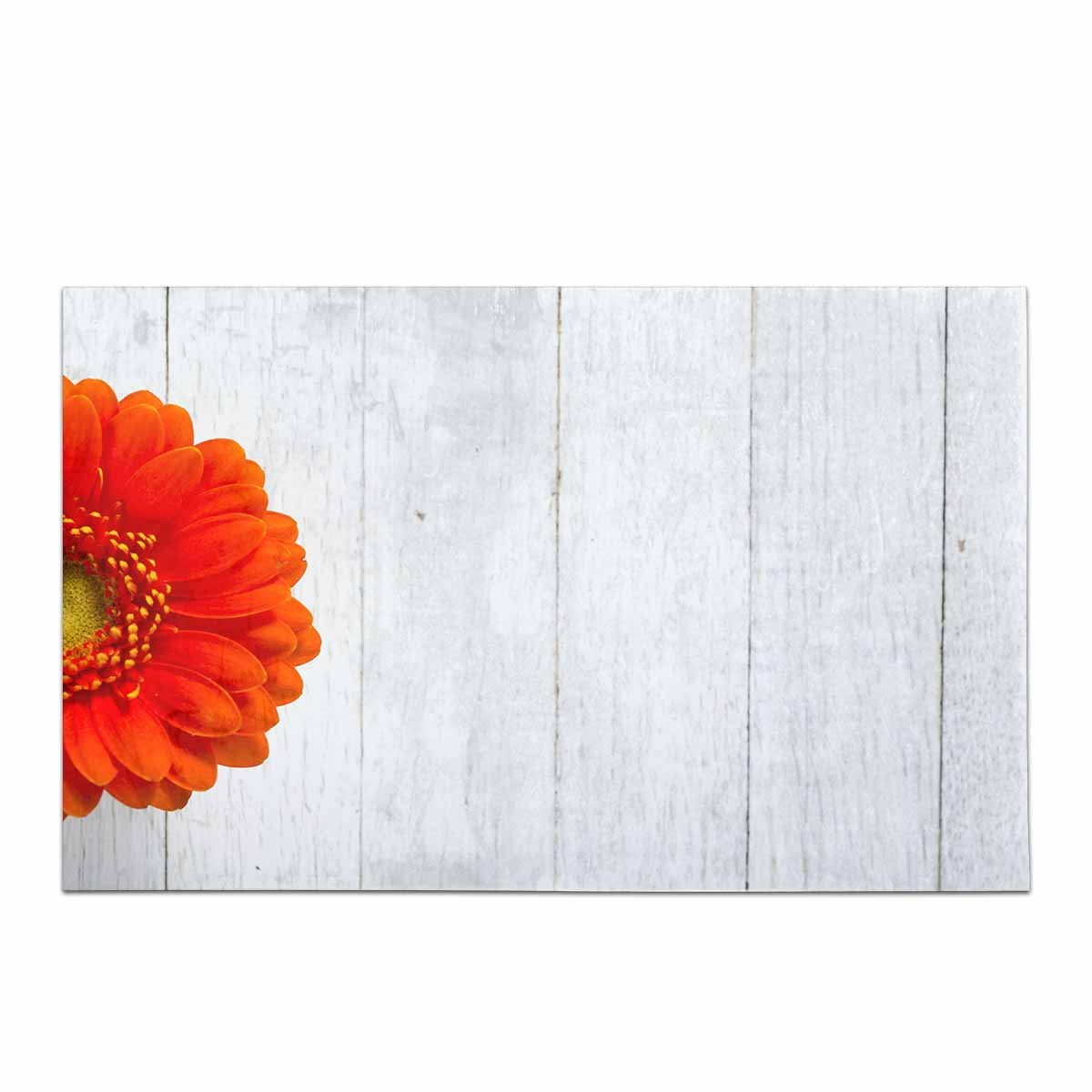 InterestPrint Gerbera Daisy Flower on White Wood Table Decor Non-Slip Bath Rug Absorbent Shower Mat Bath Mats for Bathroom Tub Large Size 20 x 32 Inches by InterestPrint (Image #1)