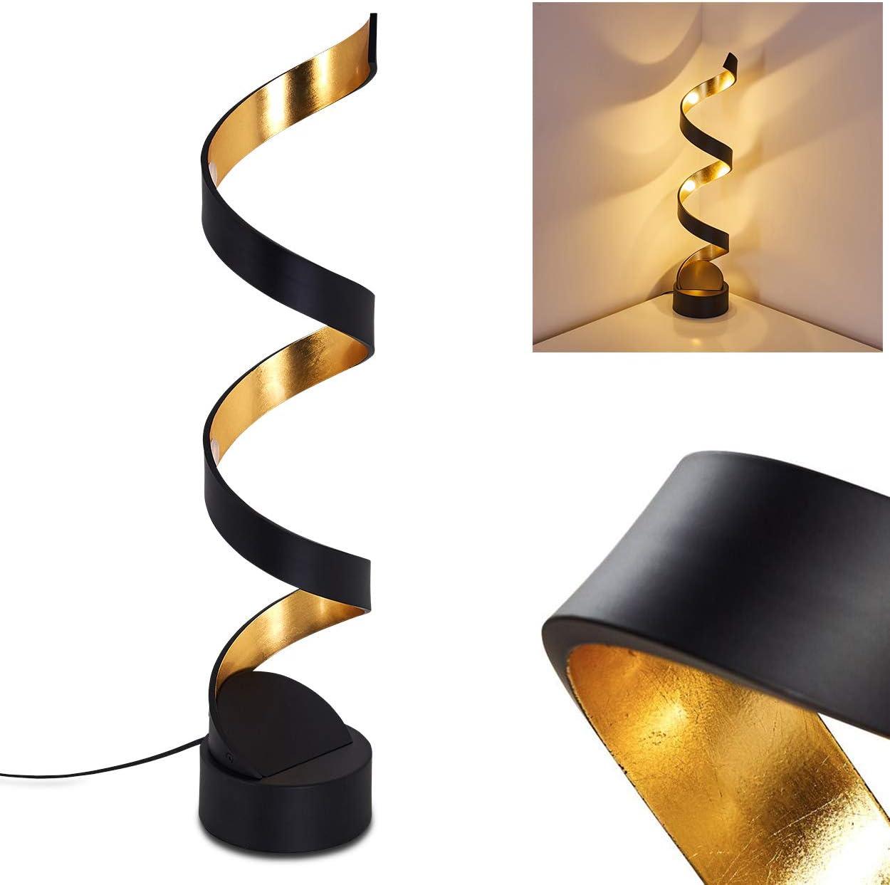 Led Stehlampe Rezat Stehleuchte Aus Metall In Schwarz Gold 12