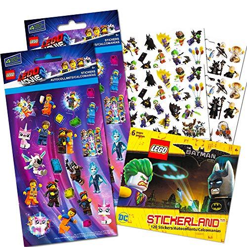 Lego Movie 2 & Batman Stickers Party Supplies Set ~ 14 Lego Batman & Lego Movie 2 Party Favors Sheets (300+ Stickers) -