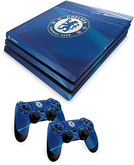 Chelsea FC Oficial PS4 Consola Pro Piel y 2 x Controlador Piel ...