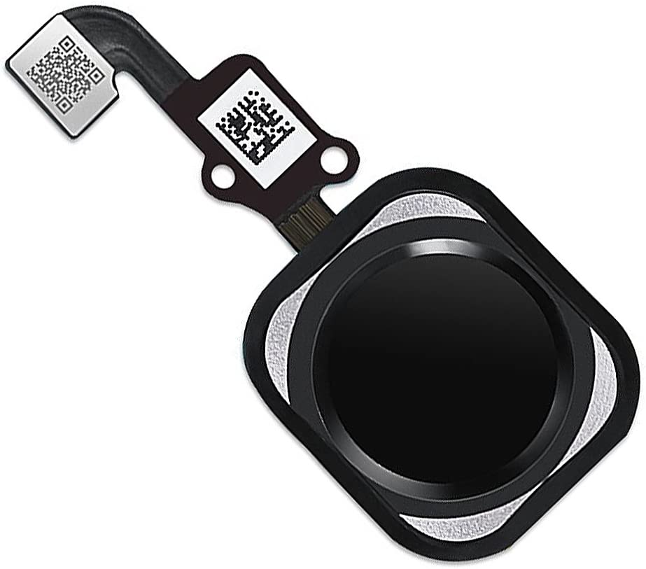 Johncase OEM Home Button Flex Ribbon Cable Assembly w/Rubber Gasket Replacement Part Compatible for iPhone 6s / 6s Plus (Black)