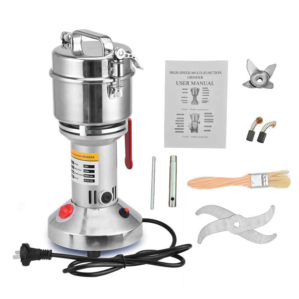 Electric Grain Mill Grinder 110V High Speed and High Power Herb Grain Spice Grinder Cereal Salt Pepper Coffee Grinder Flour Powder Machine