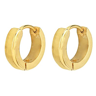 d979f7c82 Buy Stylepotion Daily Wear Gift Item Gold Colour Plated Stainless Steel  Hoop Bali Studs Earrings For Men And Women (MSE10004AE) Online at Low  Prices in ...