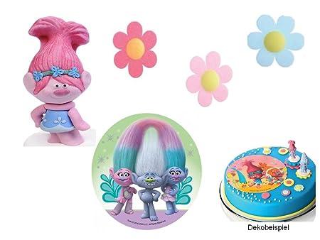 Partydeko Stefino Decoración para Tartas Trolls 5 Piezas ...