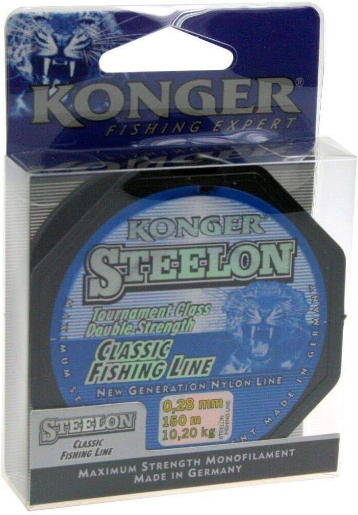 Konger Classic Fishing Line Fil de p/êche Monofile 0,12-0,50 mm//150 m