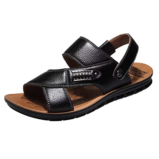 800ee4585d0e8 Amazon.com: Dainzuy Men Sandals Leather Summer Casual Sports Outdoor ...