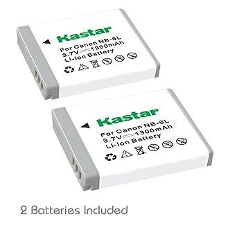 Amazon.com: Kastar Batería y Cargador para Canon NB-6L, NB6L ...
