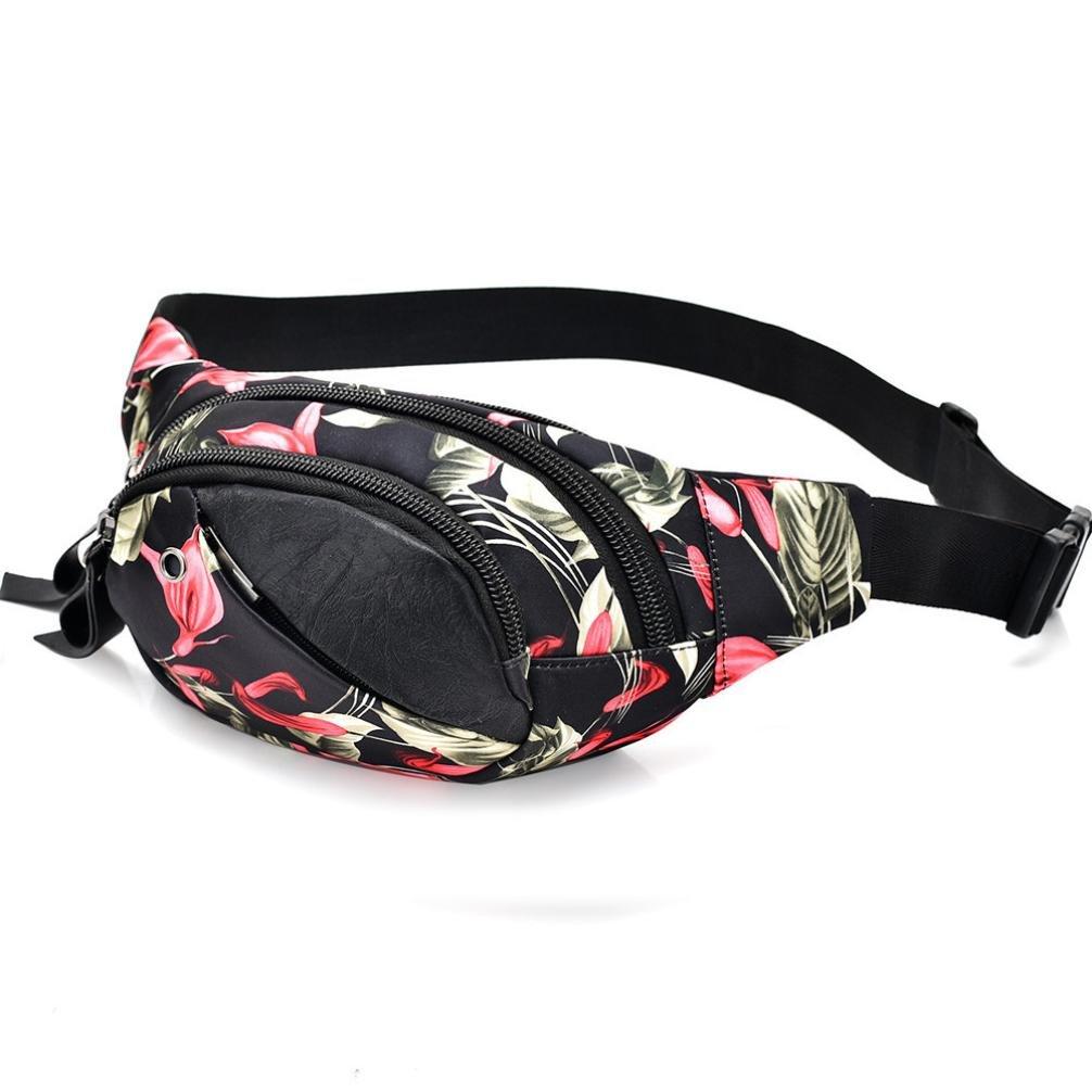 Lavany Women Waist Bags,Soft Handbags Waist Bags Pack Floral Bag Ziper for Outdoors