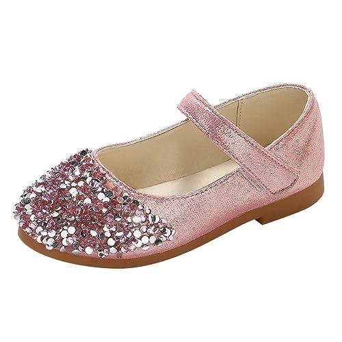Heißer Kinder Kleinkind Schuhe Infant Baby Mädchen Kristall Leder Einzelne Schuhe Party Prinzessin Schuhe Single Casual Sneaker Silber Gold Rosa