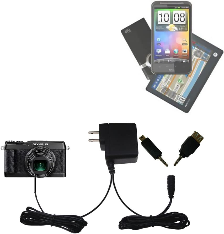 Uses TipExchange to Charge up to Two Devices at Once Gomadic Multi Port AC Home Wall Charger Designed for The Olympus SH-2