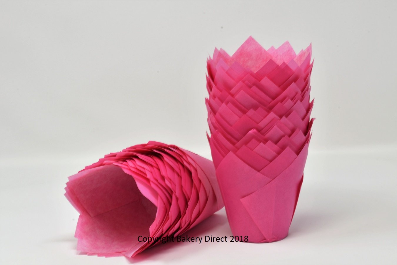 50 Bakery Direct Bright Pink Muffin Tulip Wraps Bakery direct Ltd