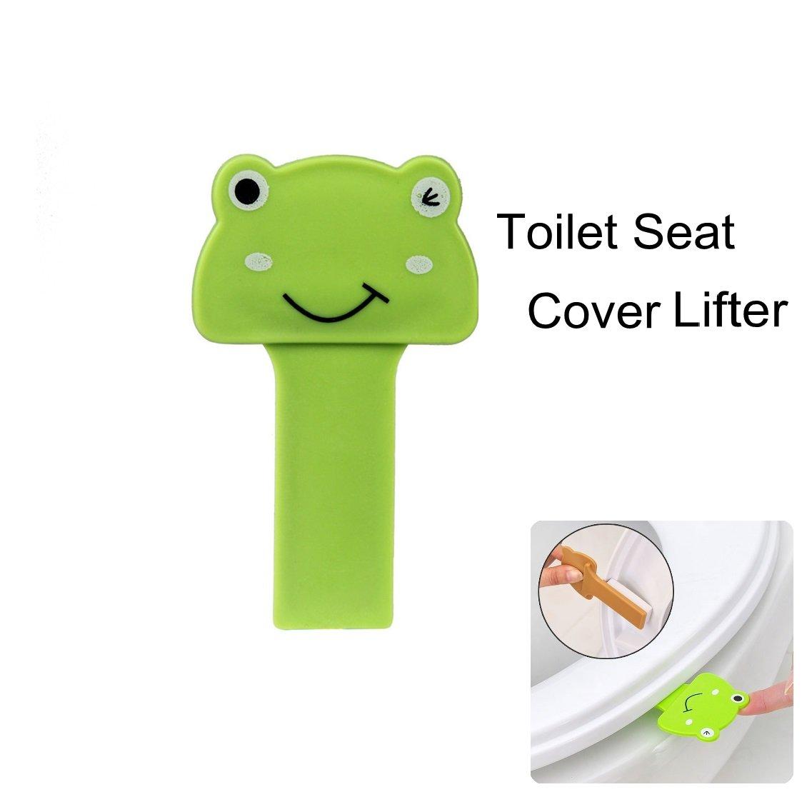 KARP Portable Cute Frog Sanitary Self-Adhesive Toilet Seat Cover ...