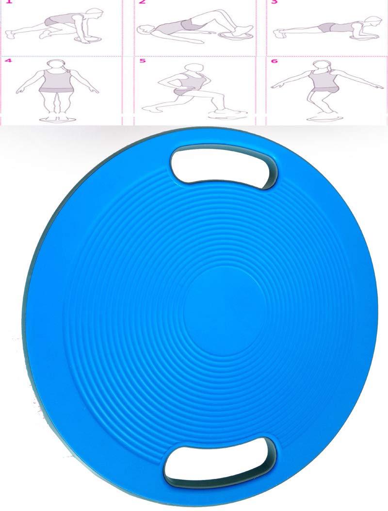 KathShop Non Slip Balance Board ABS Yoga Wobble Bear Stability Disc Waist Wriggling Round Plate Sports Waist Twisting Exerciser