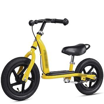 DUWEN Bicicleta Infantil de Dos Ruedas sin Pedal para niños de 2-4-6 años (Color : Amarillo): Amazon.es: Deportes y aire libre