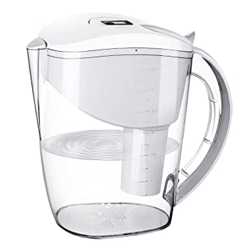 Water Filter Pitcher, HoLife Alkaline Water Pitcher With 1 Carbon Filter  Cartridge
