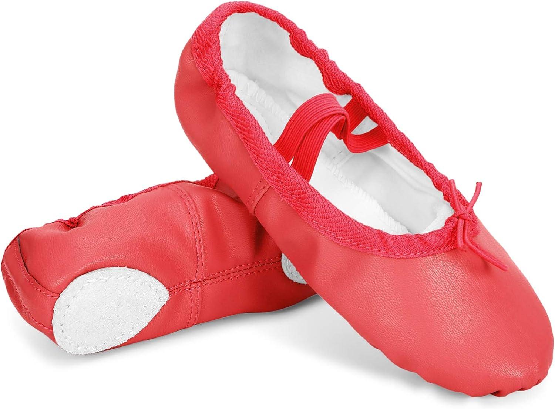 Amazon.com | Toddler Girls Boys Ankle Strap Ballet Dance Shoes Athletic  Ballet Slippers Red 10-10.5 Toddler | Dance