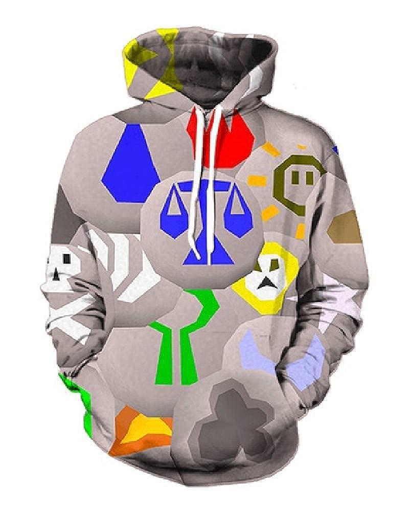 Chiclook Cool 3D Hoodies Printed Men Hooded Hoody with Hat Brand Sportswear Tracksuit Pullover Sweatshirts