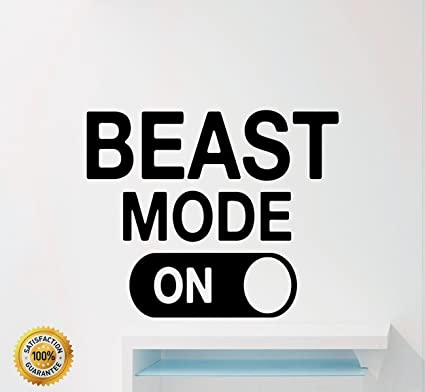 Ditooms Fitness Motivational Wall Decals Quotes Beast Mode Gym Sport  Inspirational Home Decor Art Vinyl Wall