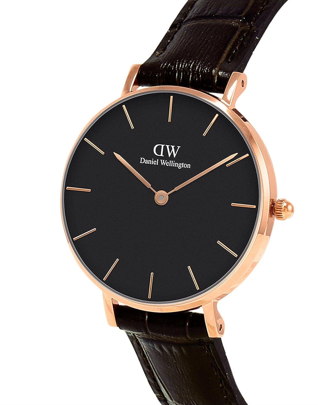 Daniel Wellington Reloj Analógico para Mujer de Cuarzo con Correa en Cuero DW00100170: Amazon.es: Relojes
