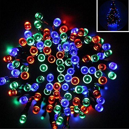 Williamtai 200LED Solar Power LED String Fairy Lights Waterproof Solar Powered Party Xmas Outdoor Garden Tree Decor Lamp Ni-MH battery1.2V/1000mAh Battery (Multicolor) by Williamtai