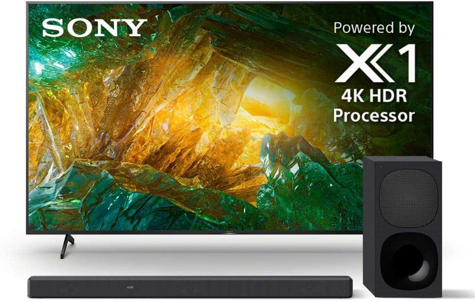 Sony X800H 55 Inch TV: 4K Ultra HD Smart LED TV with HDR and Alexa Compatibility - 2020 Model with Sony HT-G700 3.1CH Dolby Atmos/DTS:X Soundbar