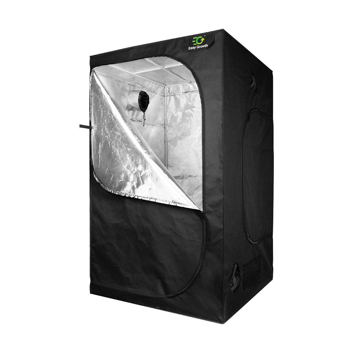 EasyGrowth 40''x40''x80'' Reflective Mylar Hydroponic Grow Tent with Waterproof Floor Tray for Indoor Plant Growing
