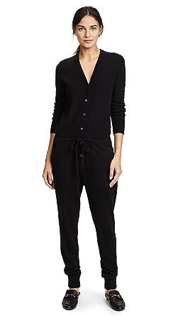 5a55b975674 Amazon.com  White + Warren Women s Cashmere V Neck Jumpsuit  Clothing