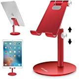 AICase Tablet/Phone Stand, Universal Multi-Angle & Height Adjustable Stand, Aluminum Desktop Stand Holder Compatible…