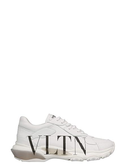 Valentino Garavani Hombre RY2S0B21RKWA01 Blanco Cuero Zapatillas: Amazon.es: Zapatos y complementos