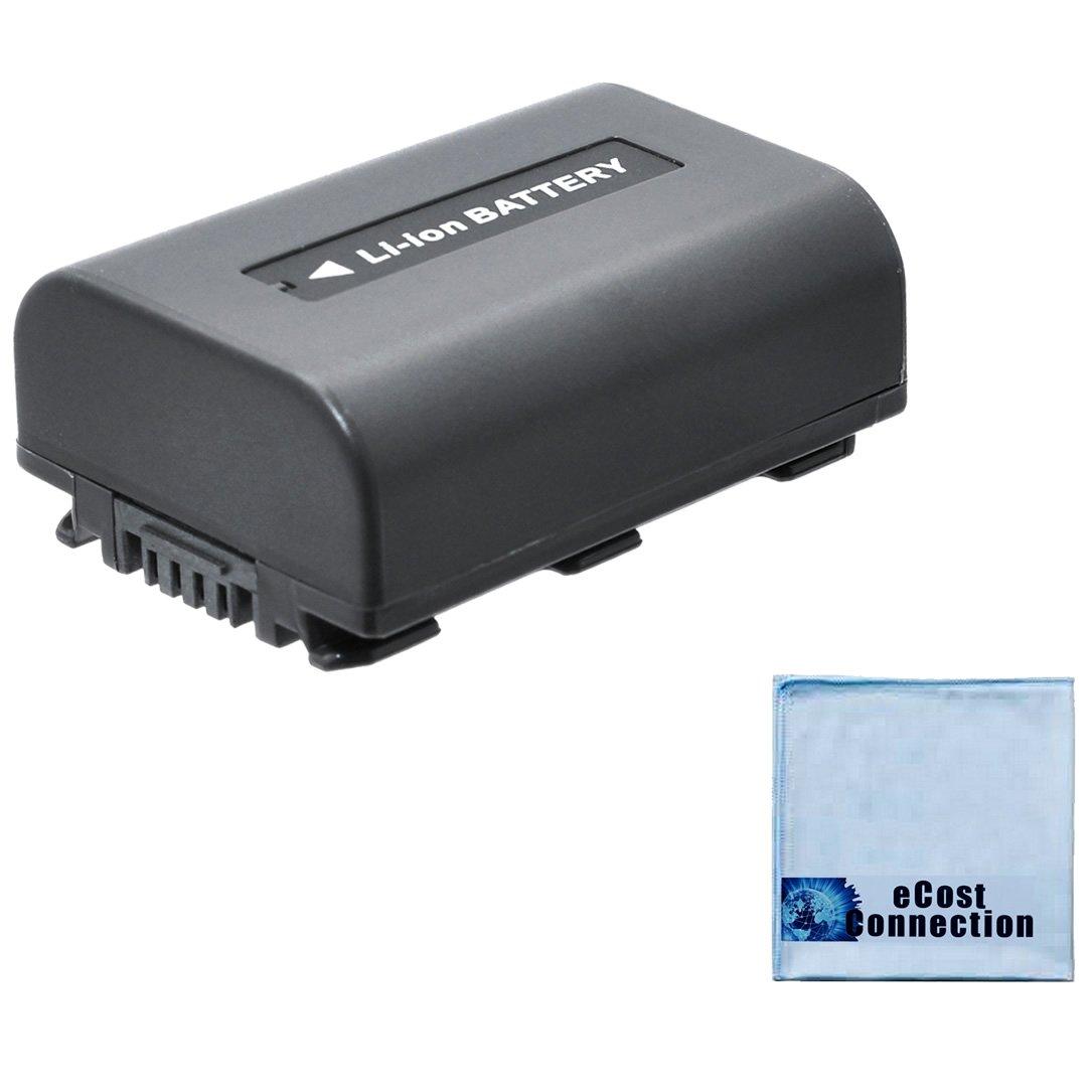 NP-FH50 1500mAh InfoLithium H Series Battery + Microfiber Cloth for Sony AC-VQH10 DCR-DVD103 DCR-DVD105 DCR-DVD108 DCR-DVD203 DCR-DVD205 DCR-DVD305 DCR-DVD308 DCR-DVD403 DCR-DVD405 DCR-DVD408 DCR-DVD505 DCR-DVD508 DCR-DVD92 Handycam Camera, NPFH50 eCost