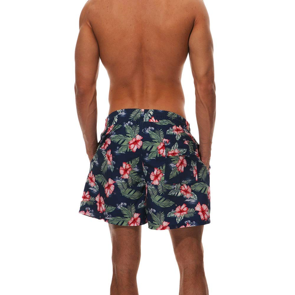 FINENICE Mens Quick Dry Swim Trunks Swimwear Surf Sports Beach Shorts Board Pants
