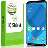 Galaxy S8 Screen Protector (Not Glass), IQ Shield LiQuidSkin Full Coverage Screen Protector for Samsung Galaxy S8 (2-Pack,Case Friendly) HD Clear Anti-Bubble Film