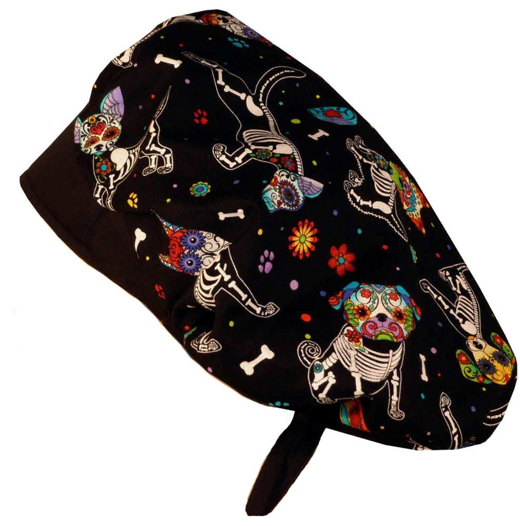 Designer Bouffant Medical Scrub Cap - X-Ray Dogs by Sparkling Earth