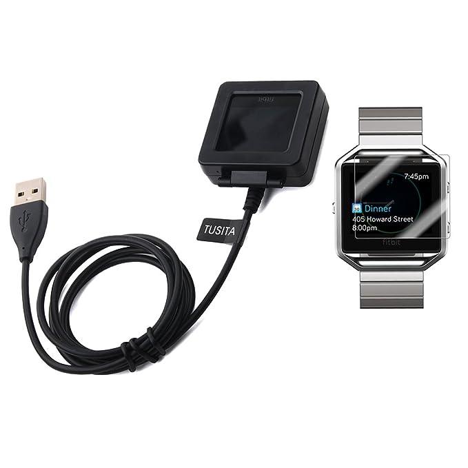 Fitbit Blaze cargador con 2-Pack Protector de pantalla ...