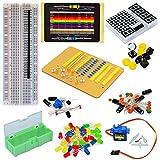 arduino starter kit deluxe - Tolako Electronic Component Starter Kit for Arduino Breadboard, LED, Dot Matrix,Resistor, Capacitor, Breadboard