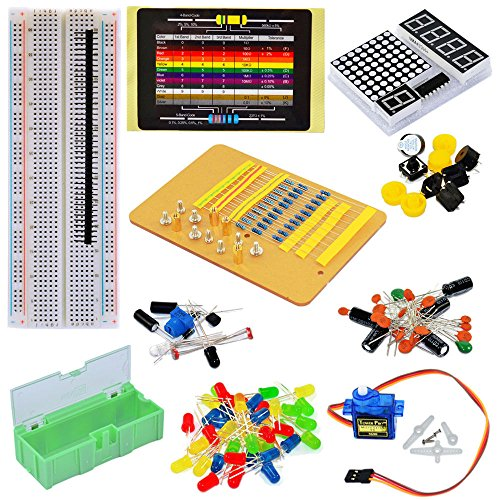 Tolako Electronic Component Starter Kit for Arduino Breadboard, LED, Dot Matrix,Resistor, Capacitor, - Coupons Online Costa