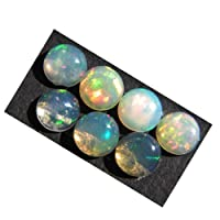 Rasiyo opale etiope 7PZ. Naturale opale etiope pietra preziosa cabochon 6x 6mm etiope opale di fuoco lotto a20K-2247