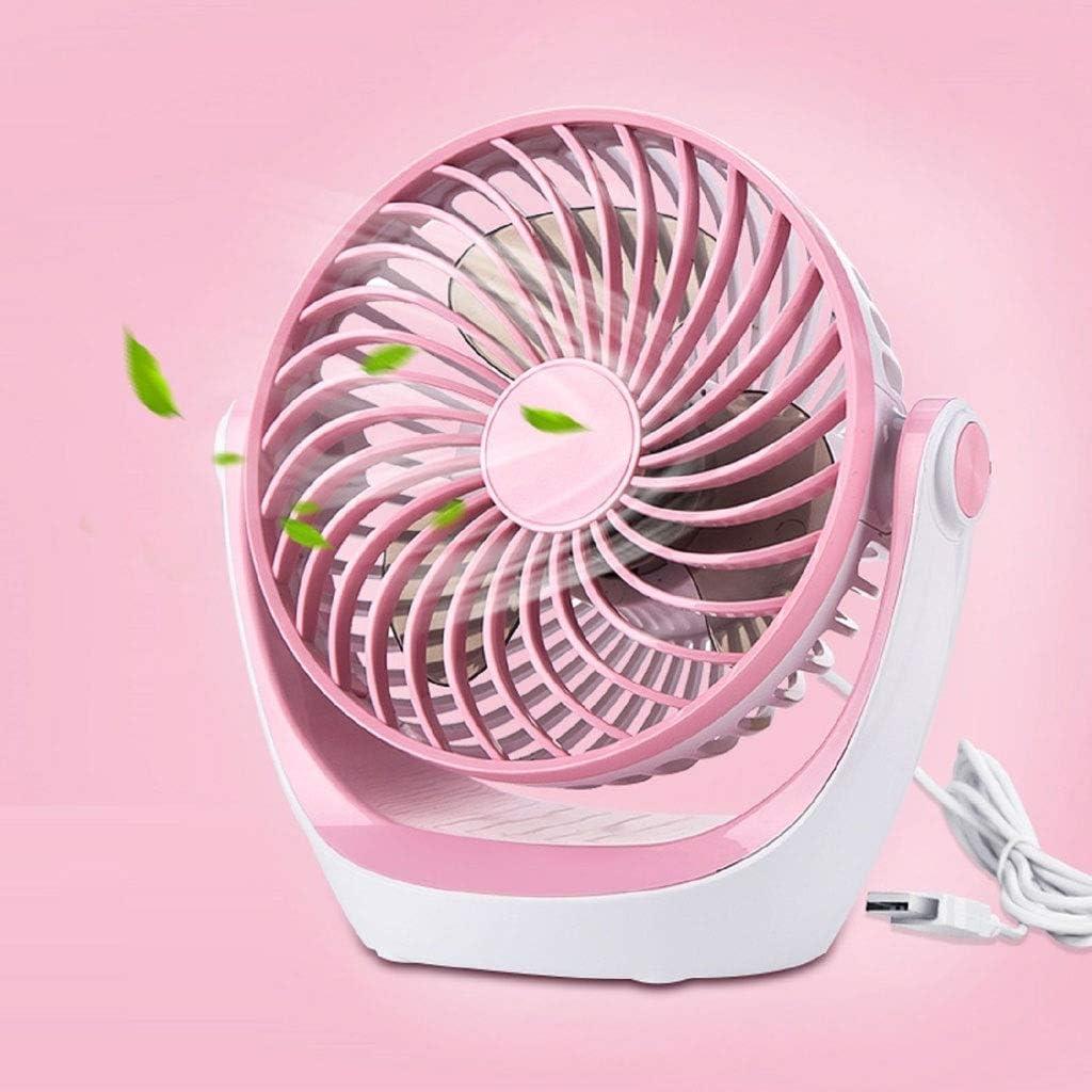 Color : Pink Air Cooler USB Rechargeable Fan Handheld Portable Small Fan Desktop Dormitory Mini Personal Fan Girl Outdoor Fan