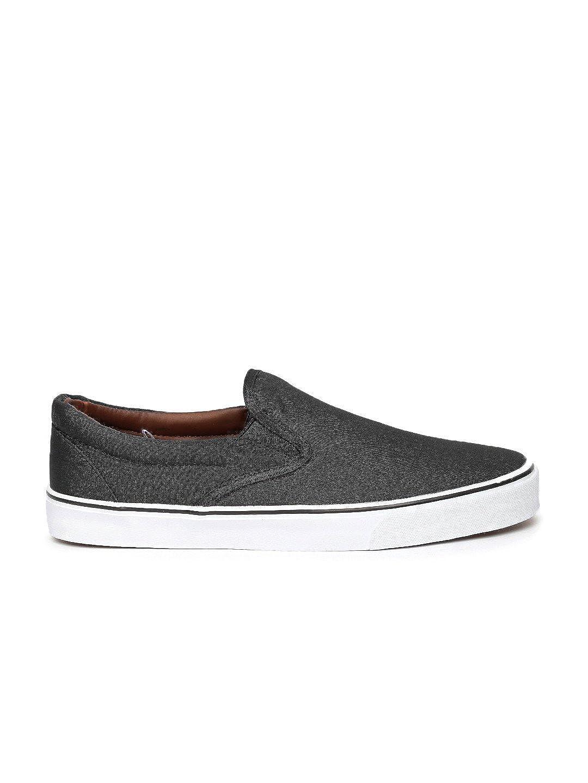 Buy Kook N Keech Men Black Slip-Ons