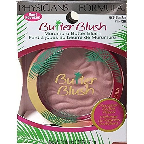 Physicians Formula Murumuru Butter Blush, 6834 Plum Rose (Pack of 2)