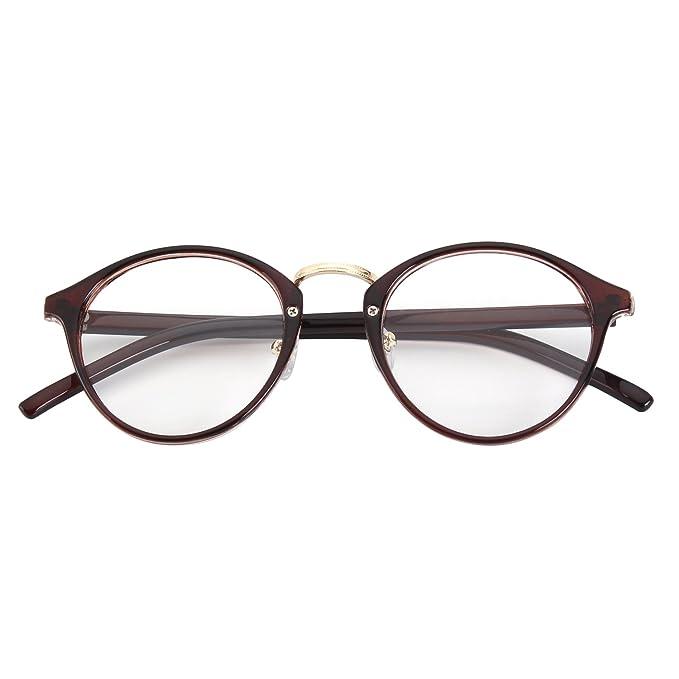 Gafas retro de pasta para hombre y mujer. Color marrón y opción de mas colores.
