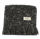 "Alpaca Scarf Black Wool 80"" x 10"" Made in Ireland"