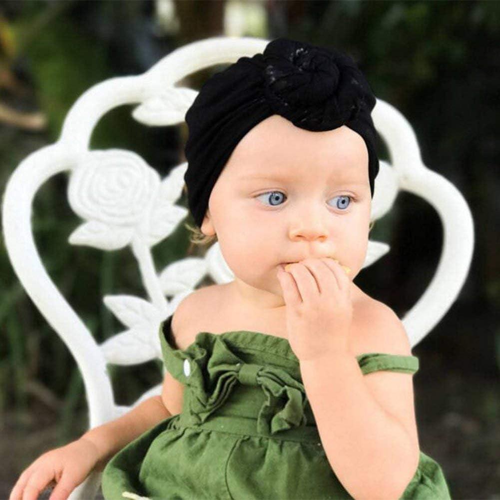 Gaocheng - Gorro de bebé para bebé, Estilo Informal, de algodón Suave, con Lazo elástico, para recién Nacidos, hospitales, niños y niñas, Sombrero Indio para fotografía, Disfraz, Fiesta