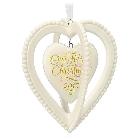 Hallmark Our First Christmas Ornament.Hallmark Keepsake Ornament Our First Christmas Together Two Hearts