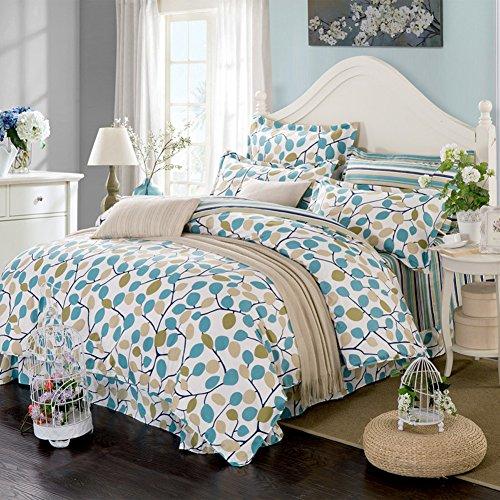 TOP SHOP Home FTSUCQ Waiting Blossom Linen Bed Sheets Quilt Covers Bed Mattress Bedding Four-PCS Sets,size-3 (Sheet Top Kidsline)