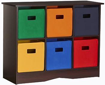 RiverRidge Kids 6 Bin Storage Cabinet