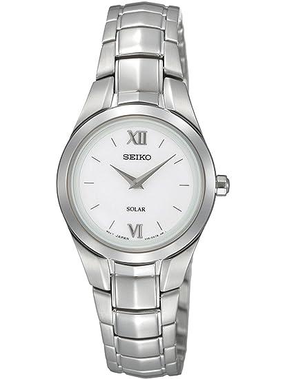 Seiko SUP109P1 - Reloj analógico de cuarzo para mujer con correa de acero inoxidable, color